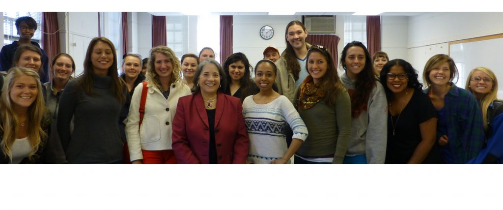 Mayor Rogero visits Rebecca Klenk's Women, Politics & the Law course