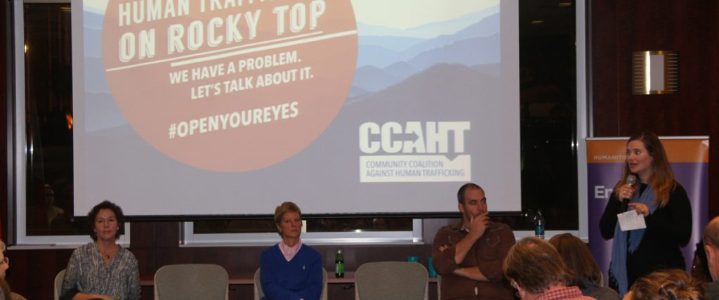 Affiliate faculty member Misty Anderson participates in event on human trafficking