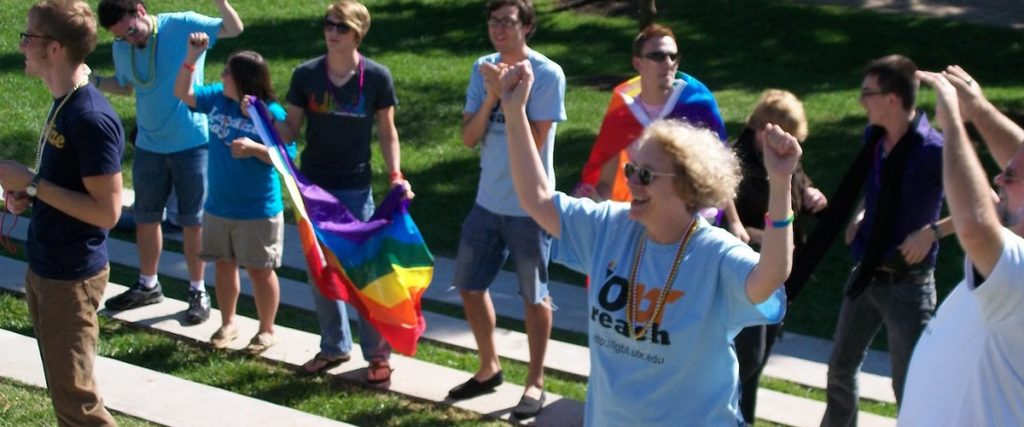 Lynn Sacco at Coming Out Day, UTK Amphitheater, 2010